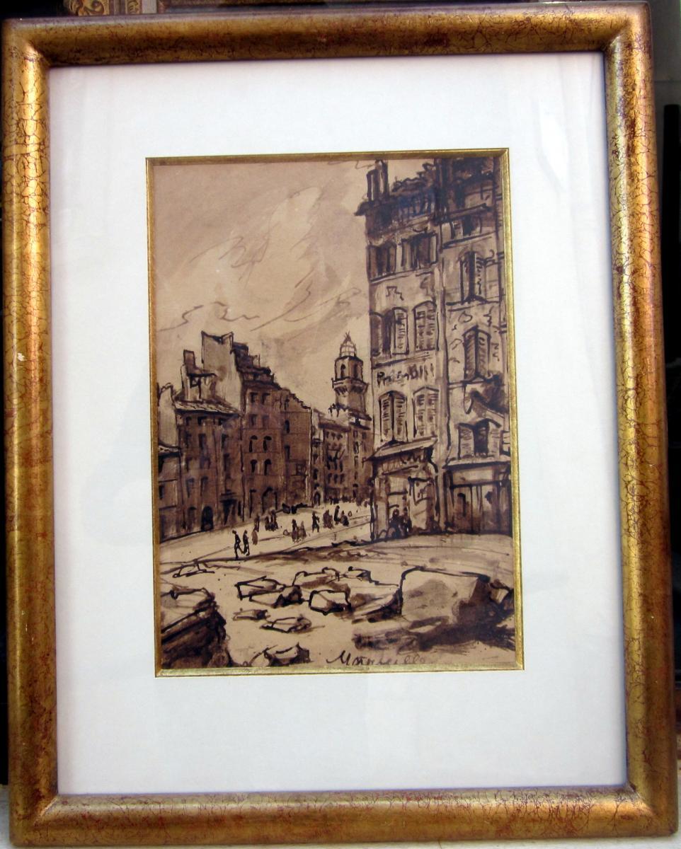 Emile Bernard (1868-1941) Vieux Quartiers à Marseille