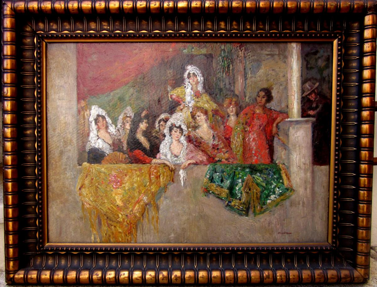 Marcel Leprin (1891-1933) Spanish At The Arena