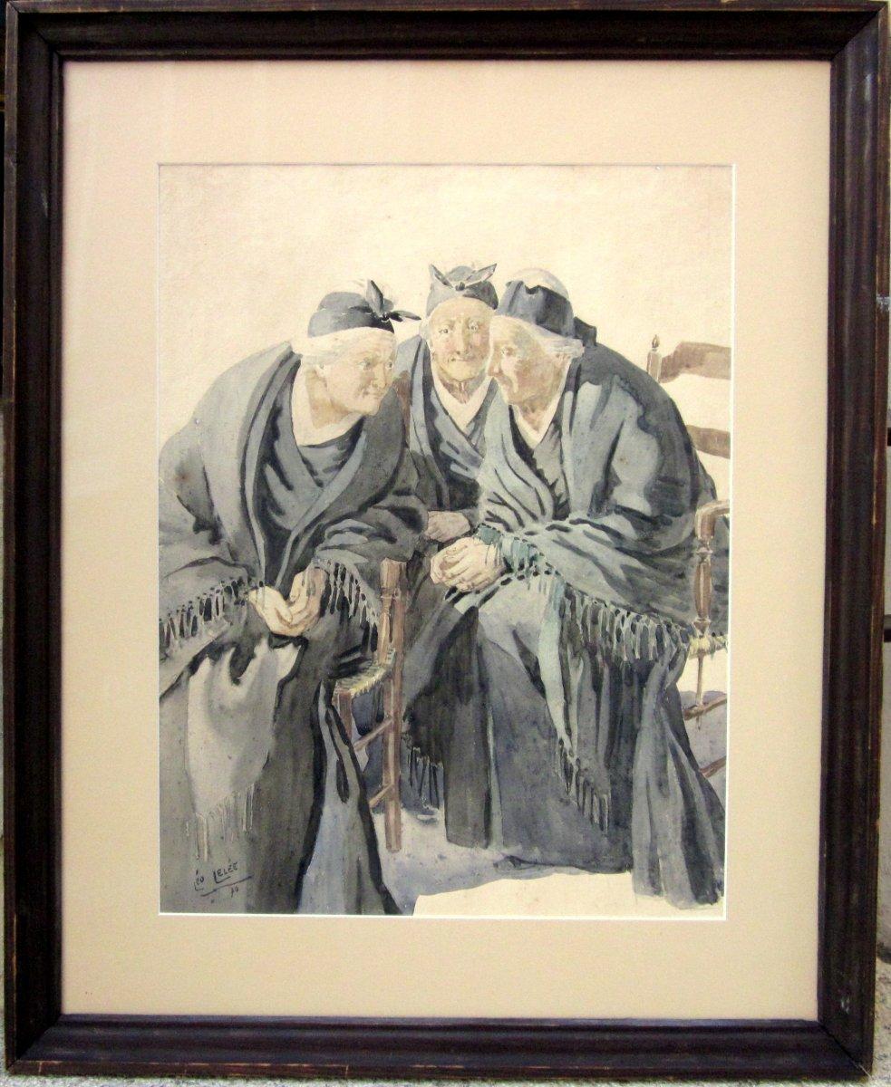Léo Lelée (1872-1947) Les Trois Arlésiennes-photo-2