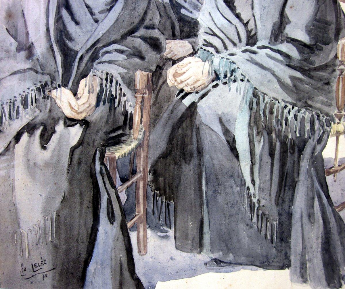 Léo Lelée (1872-1947) Les Trois Arlésiennes-photo-3