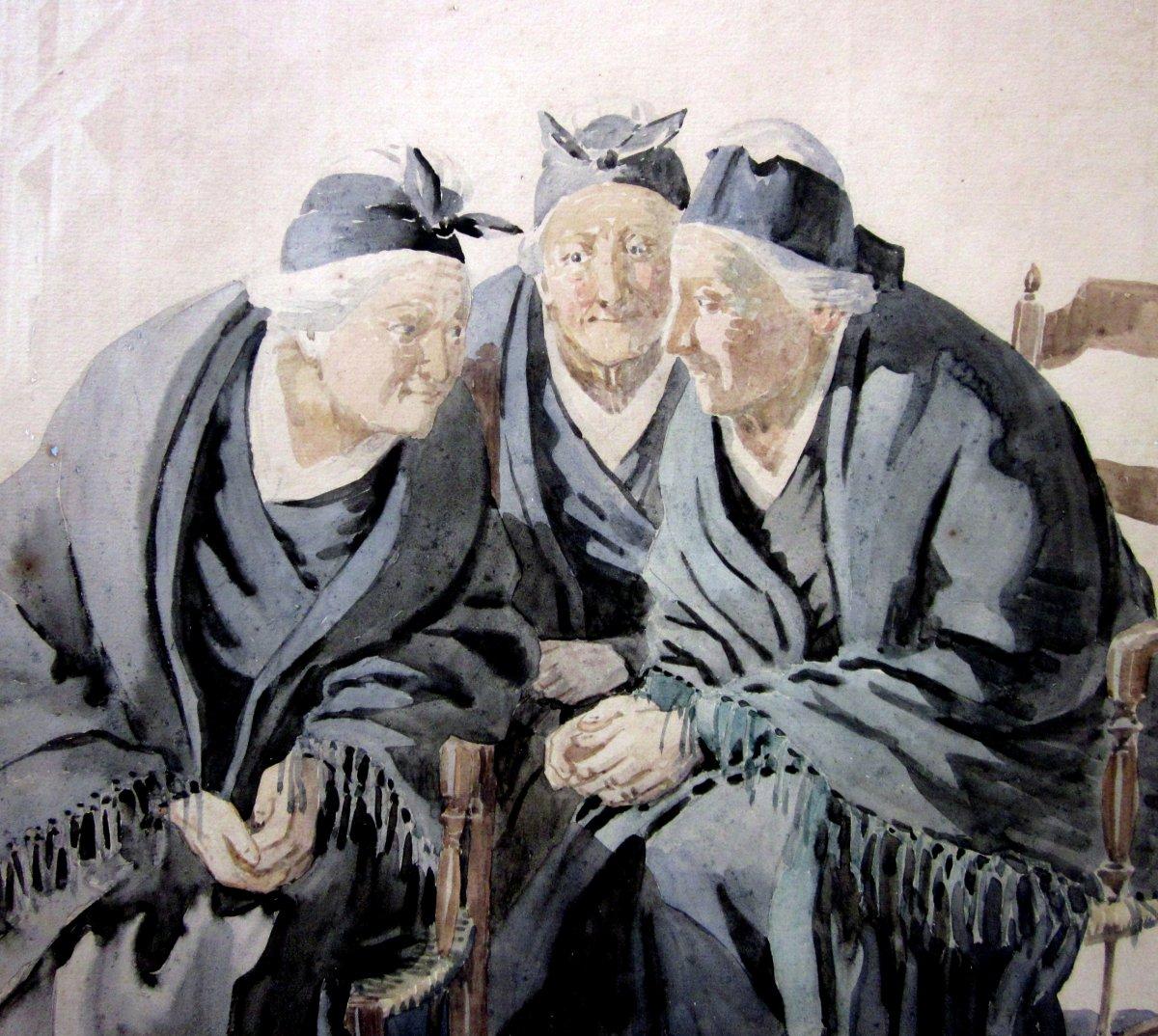 Léo Lelée (1872-1947) Les Trois Arlésiennes-photo-4