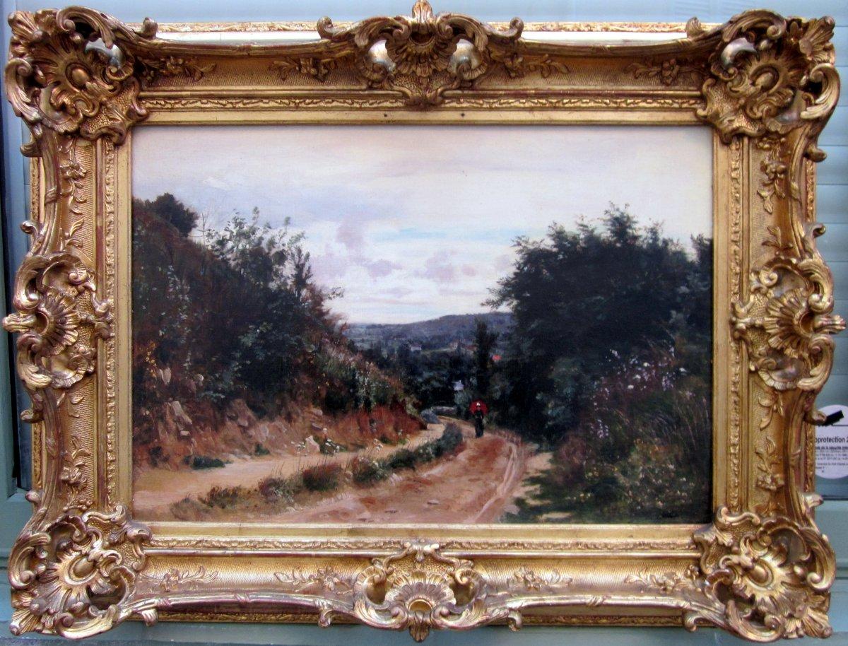 Paul Saïn (1853-1908) Paysage Animé