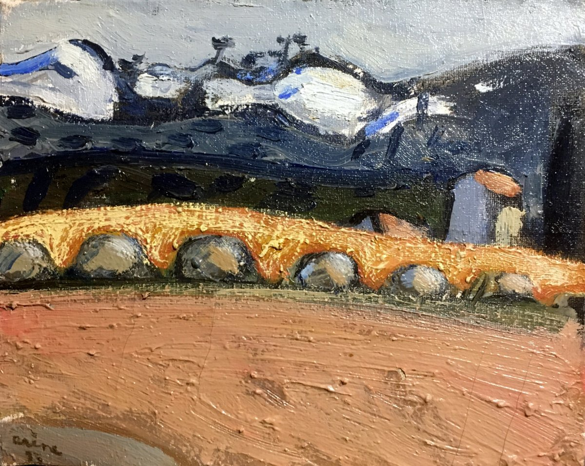 Jean Arène (1929-2020) Landscape From The Alpilles To The Aqueduct-photo-1