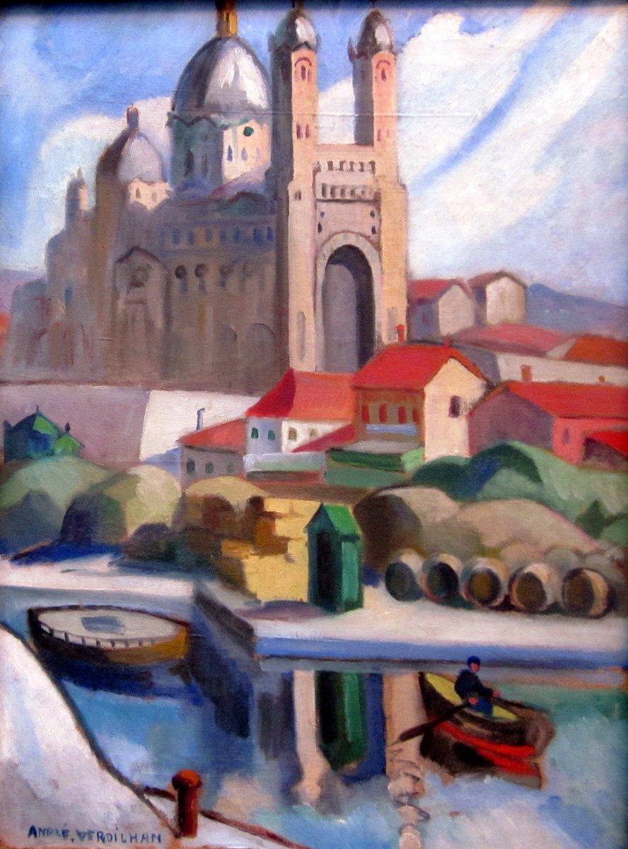 André Verdilhan (1881-1963) Cathedral De La Major In The La Joliette District In Marseille