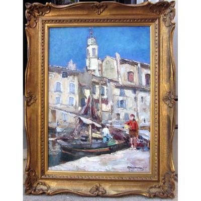 Joseph Meissonnier (1864-1943) Retour De Pêche à Martigues