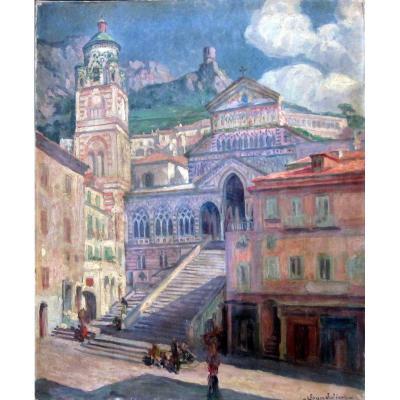 Jean Julien (1888-1974) La Cathédrale d'Amalfi en Italie