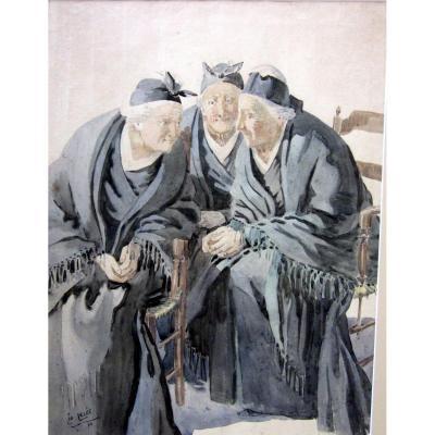 Léo Lelée (1872-1947) Les Trois Arlésiennes