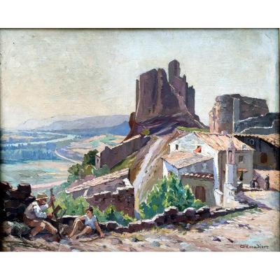 Madier (xxe) Rochemaure, Le Chateau Et Vue Sur Le Rhône Vers Le Teil Et Viviers