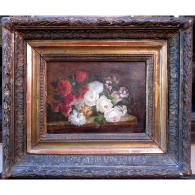 Guillaumet (xixe) Pair Of Floral Compositions On A Table