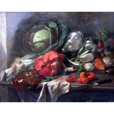 Charles Giraud (1819-1892) Still Life With Offal