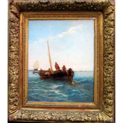 Louis Nattero (1870-1915) Pêcheurs En Haute Mer