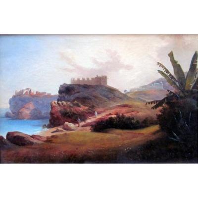 Honoré Boze (1830-1909) Paysage Oriental - Algérie