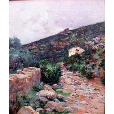 David Dellepiane (1866-1932) Cabanon Dans Un Paysage Provençal