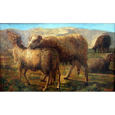 François Simon (1818-1896) Les Moutons