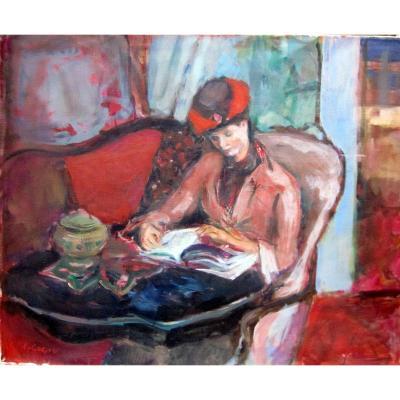 Pierre Cornu (1893-1896) Jeune Femme à La Lecture
