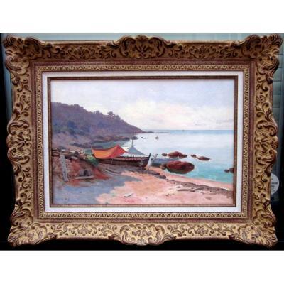 Lina Bill  (1855-1936) Bord De Mer En Provence