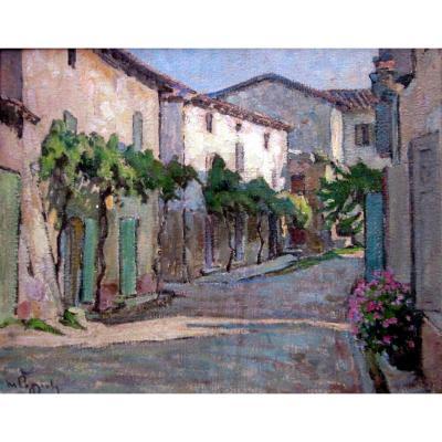 Marcel Poggioli (1882-1969) La Rue Aux Treilles