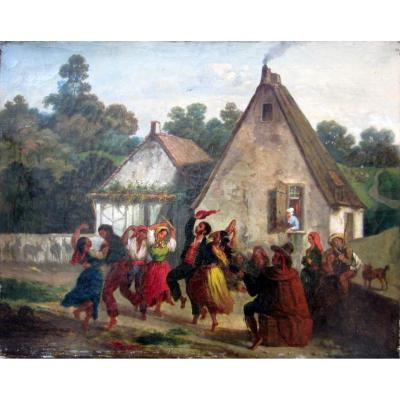 Eugénio Lucas Y Padilla (1817-1870) Danse Folklorique Espagnole