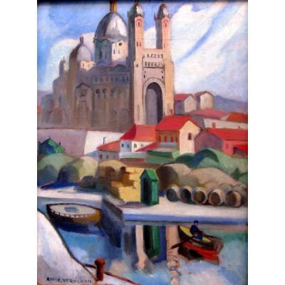 André Verdilhan (1881-1963) Cathedral De La Major In The La Joliette District In Marseille