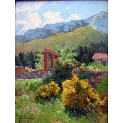 Edouard Crémieux (1856-1944) Landscape Of The Surroundings Of Saint Marcel - Marseille
