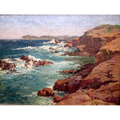 Etienne Robert (1875-1959) Seaside In The Var