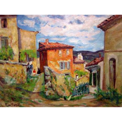 Pierre Marseille (1896-1980) Hamlet In Haute Provence