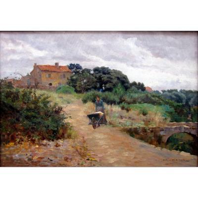Edouard Crémieux (1856-1944) Peasant Woman At La Brouette