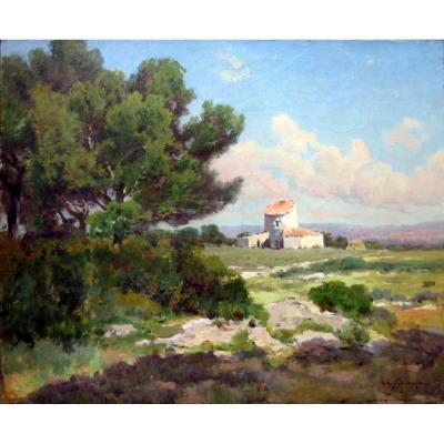 Théophile Décanis (1847-1917) Petit Mas (mazet) En Provence