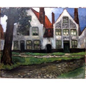 Gaston Balande (1880-1971) Le Béguinage De Bruges - De Wijngaard