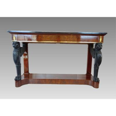 Mahogany Console From The First Empire Period