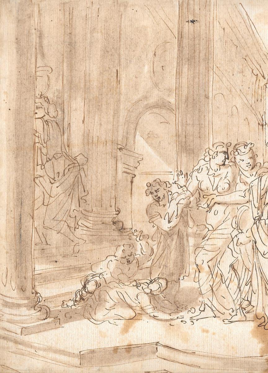 "Loir Nicolas, Attributed To, ""scene Of Ancient History""-photo-2"