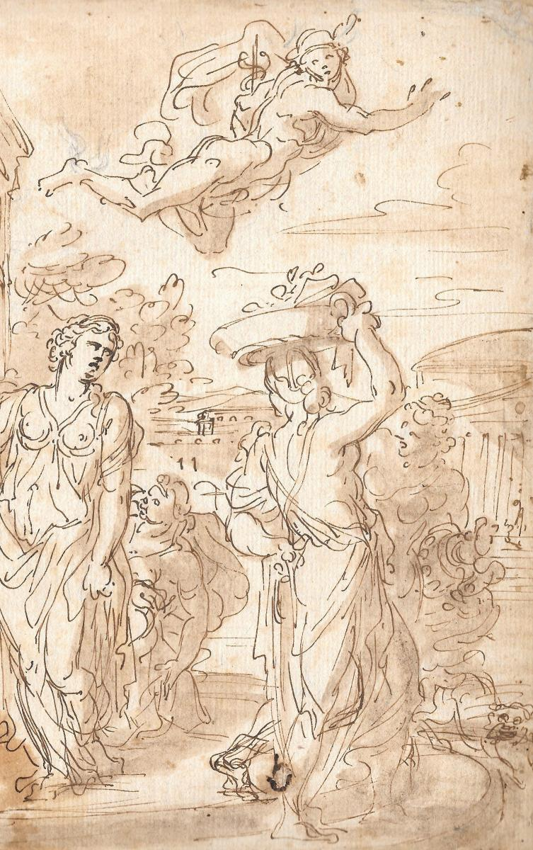 "Loir Nicolas, Attributed To, ""scene Of Ancient History""-photo-3"