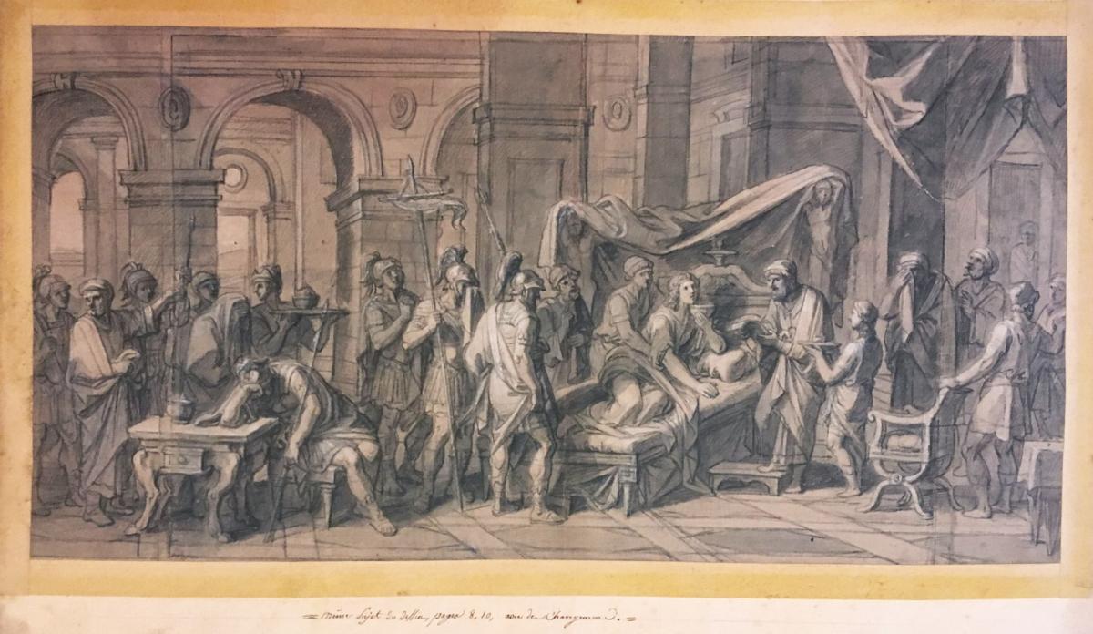 """VERDIER François """"Episode de la vie d'Alexandre"""" Dessin à la pierre noire-photo-4"""