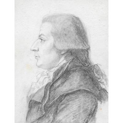 """a Man Portrait"" Drawing, Benjamin Duvivier, Engraver"