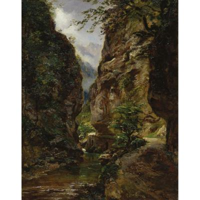 """""""the Gorges"""" Oil On Canvas, André Giroux"""