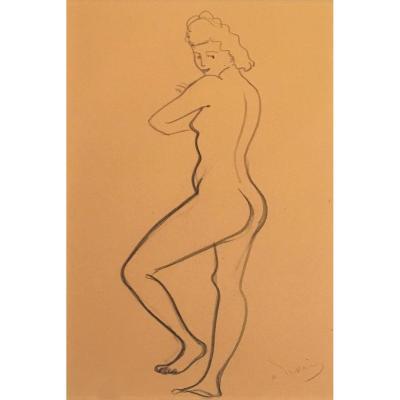 """DERAIN André (1880-1954) """"Nu de femme"""" Dessin au crayon noir, signé"""