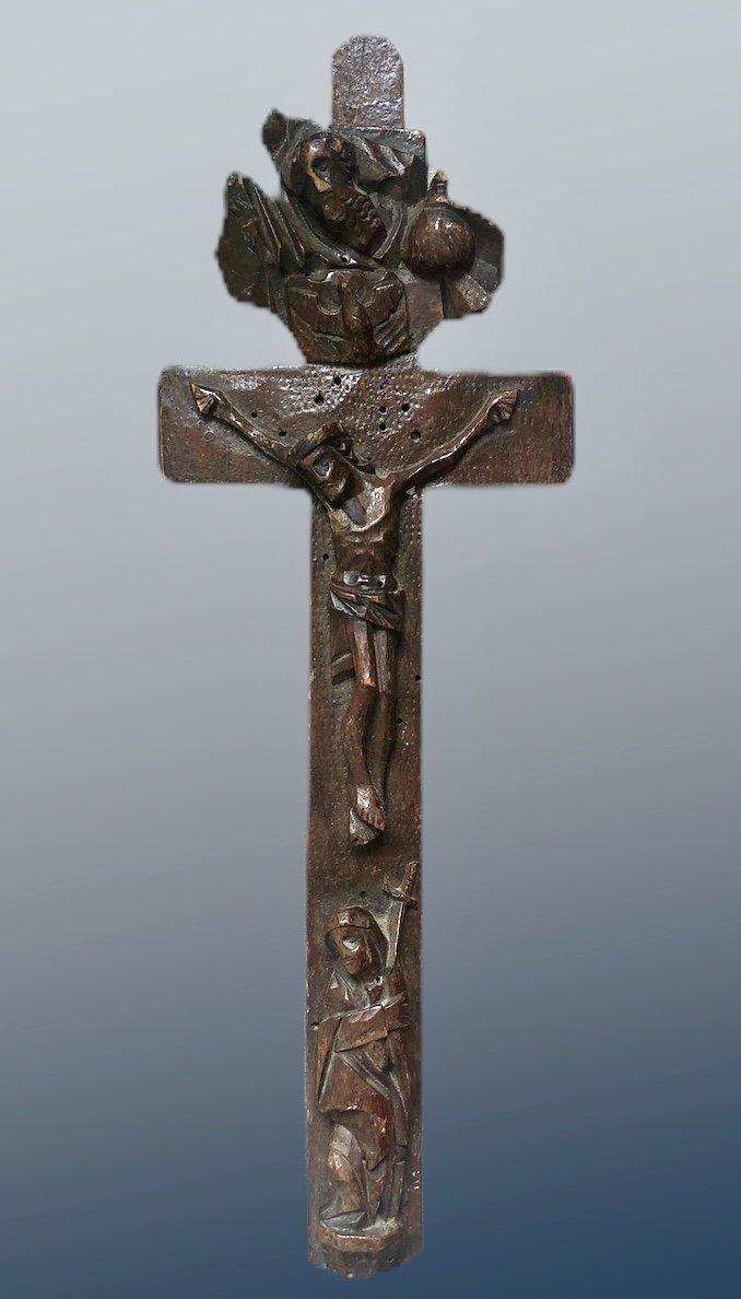 Croix Reliquaire En Bois - Fin Du XVIIIe Siècle