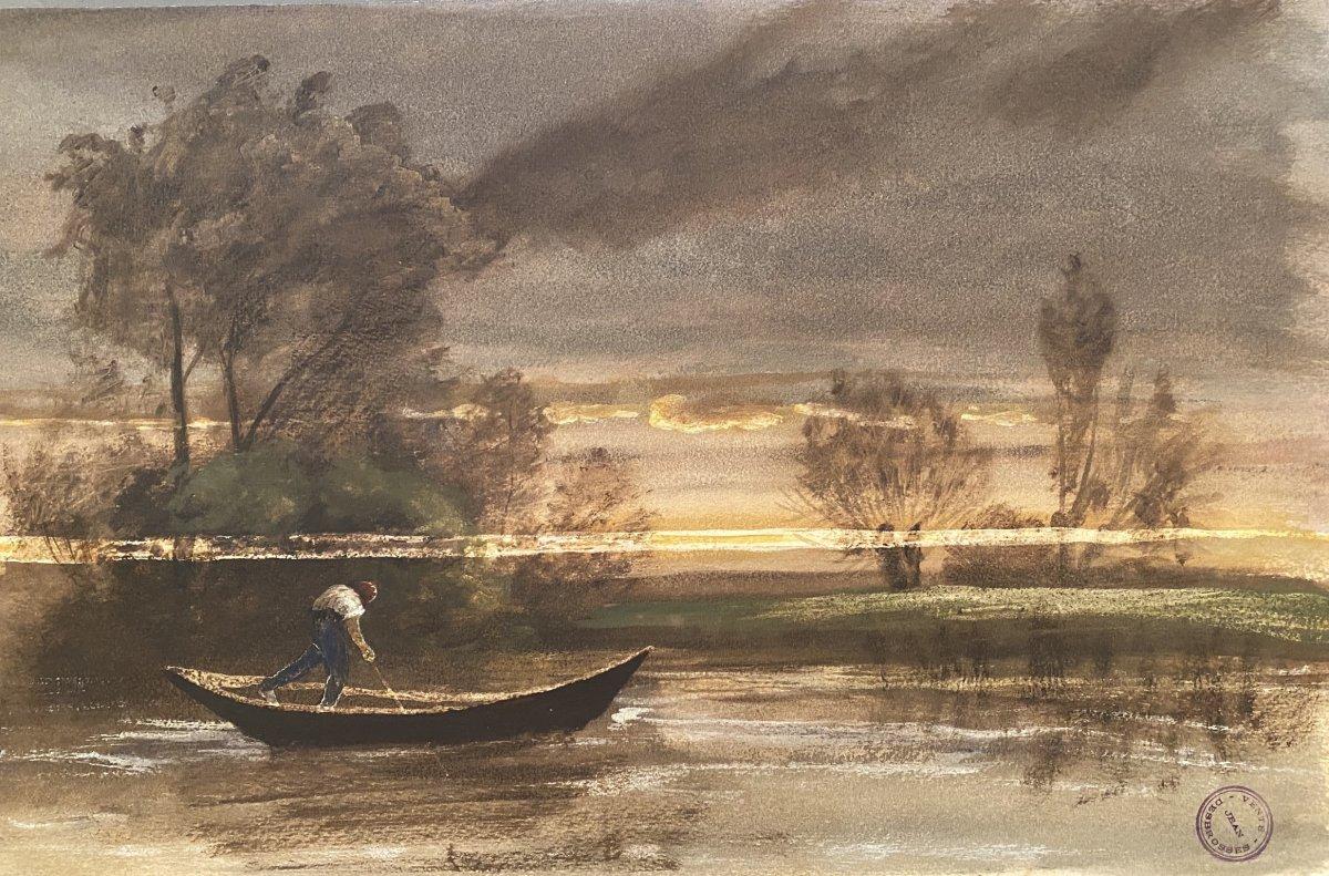 Gouache Signed Jean Desbrosses (1835-1892)