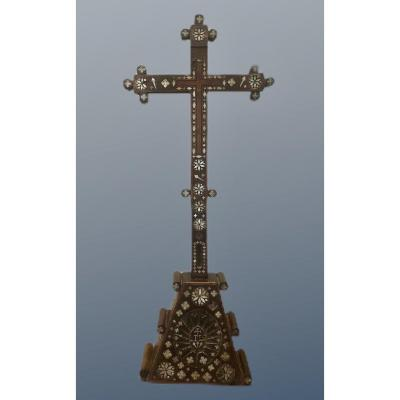 Croix En Nacre De Terre Sainte - Début XIXe Siècle