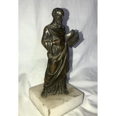 Statue En Bronze De Saint Paul - XIXe Siècle
