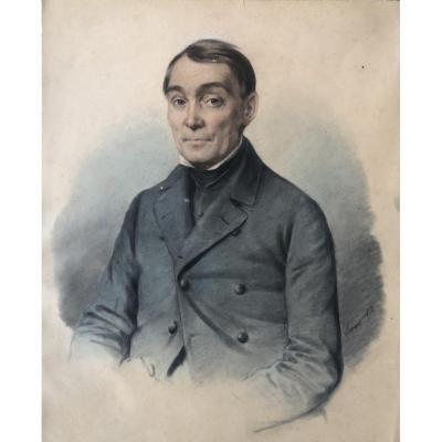 Pencil Portrait Signed Leman 1856