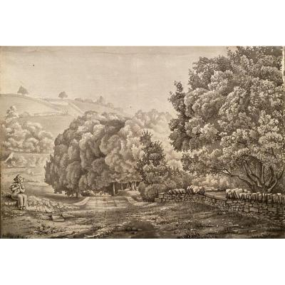 Landscape Ink, Early 19th Century
