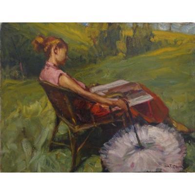 Durando Togo Richard (1910 -?) - Young Girl Reading