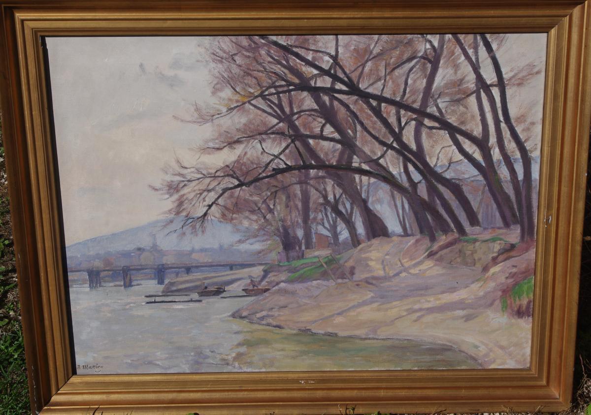 Matthey Jules 1852-1917, Edge Of The Arve, Haute-savoie Switzerland