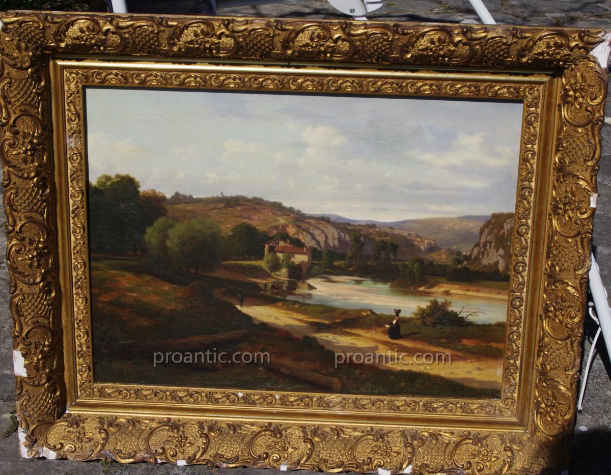 Claude Ponthus Cinier, Paysage De Provence Ou Italie 19eme