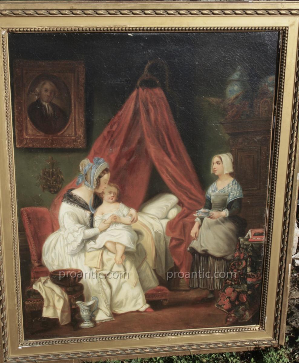 Achille DEVÉRIA (1800-1857)  Le déjeuner de l enfant