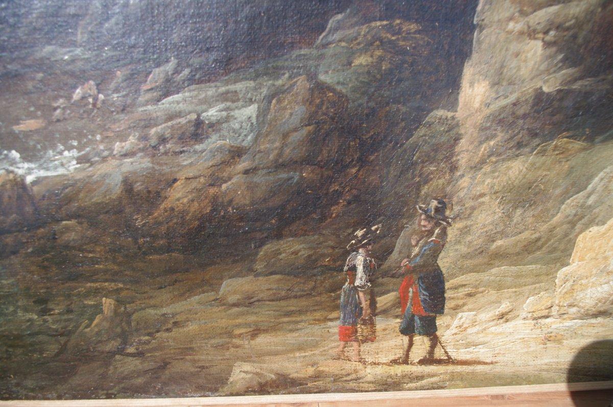 Ecole Flamande Du XVIIeme ,  Grand Paysage ,suiveur de Joos de Momper