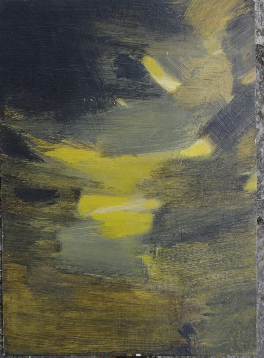 Pierrette Bloch, 1928 2017 Oil On Carton Abstraction The Fifties