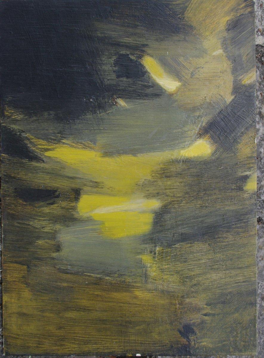 Pierrette Bloch , 1928 2017  Huile Sur Carton  Abstraction Années 50