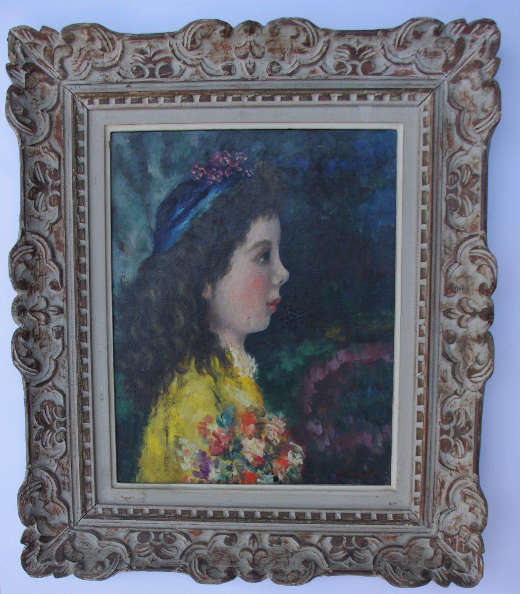 Aramov Portrait Of Little Girl (lazare Abhramoff Finckelstein)